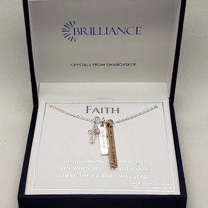 "New Brilliance ""Faith"" Silver Necklace"